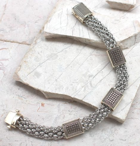 A photo of the Braided Clip Bracelet product