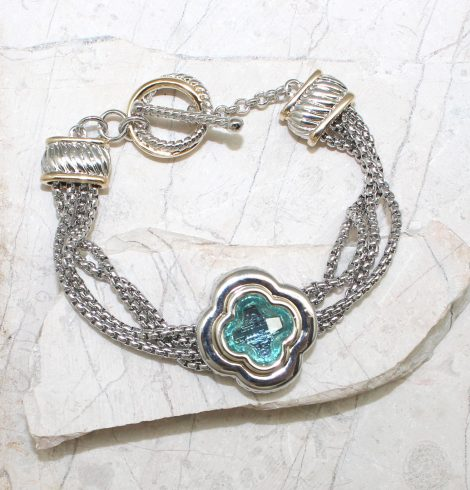 A photo of the Clover Toggle Bracelet product