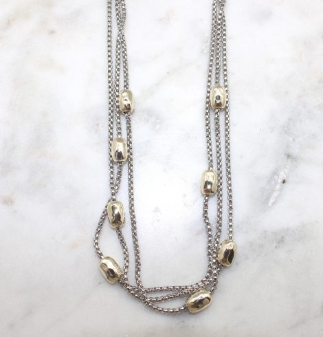 A photo of the Gold Bead Magnetic Necklace product