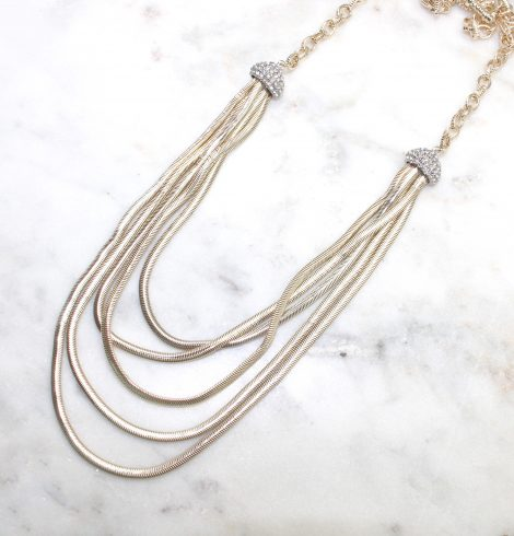A photo of the Gold Layers Necklace product