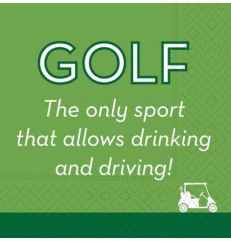 A photo of the Golf Is The Only Sport Napkins product