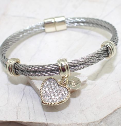 A photo of the Heart Magnetic Bangle product