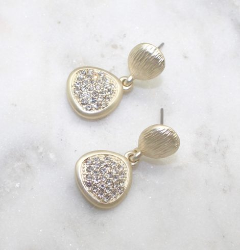 A photo of the Matte Gold Pebbles Earrings product