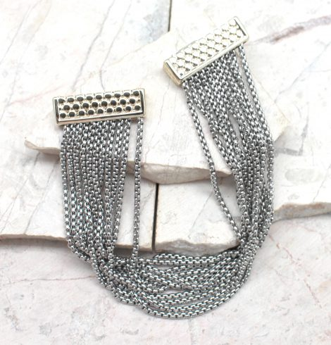 A photo of the Multi Strand Textured Bracelet product