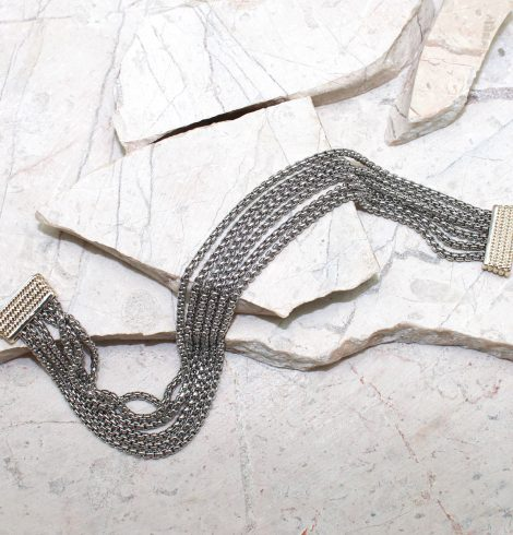 A photo of the Multi Strand Two Tone Bracelet product