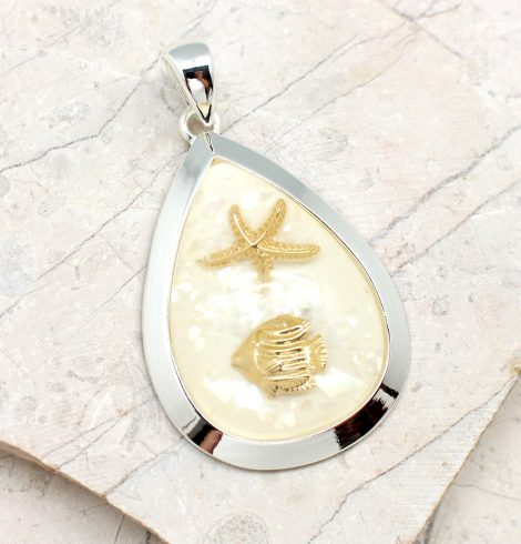 A photo of the Ocean Orb Pendant product