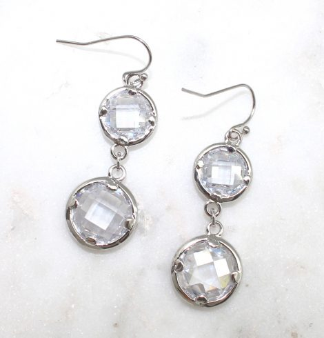 A photo of the Round Gemstone Earrings product