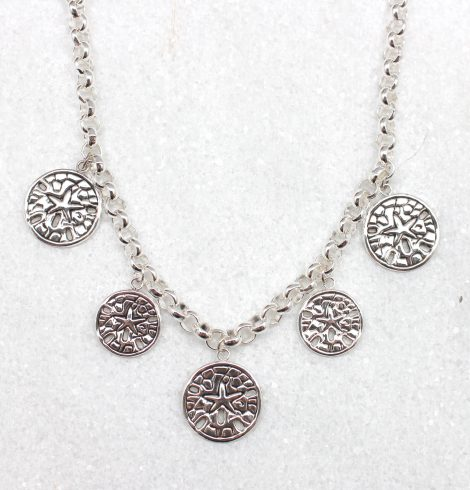 A photo of the Sand Dollar Necklace product
