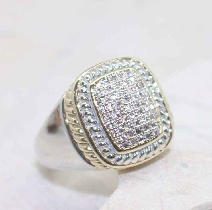 A photo of the Square Rhinestone Ring product