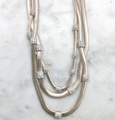 A photo of the Twisted Layers Magnetic Necklace product