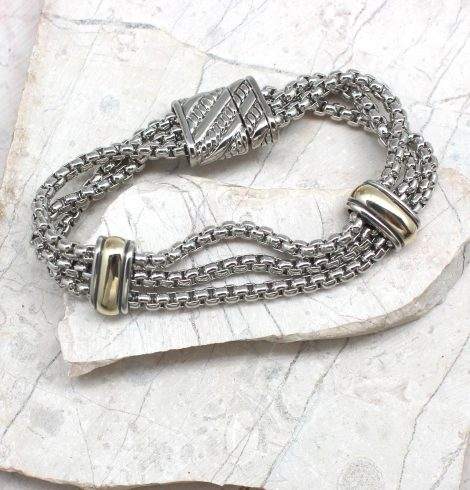 A photo of the Two Bead Magnetic Bracelet product