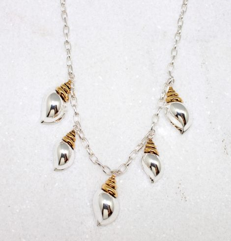 A photo of the Two Tone Shell Necklace product