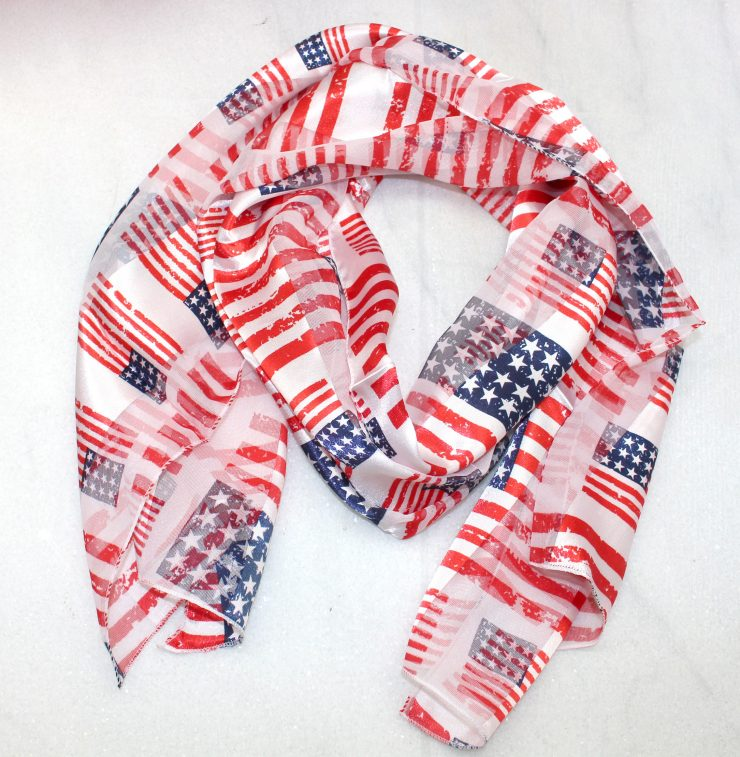 A photo of the American Flag Scarf product