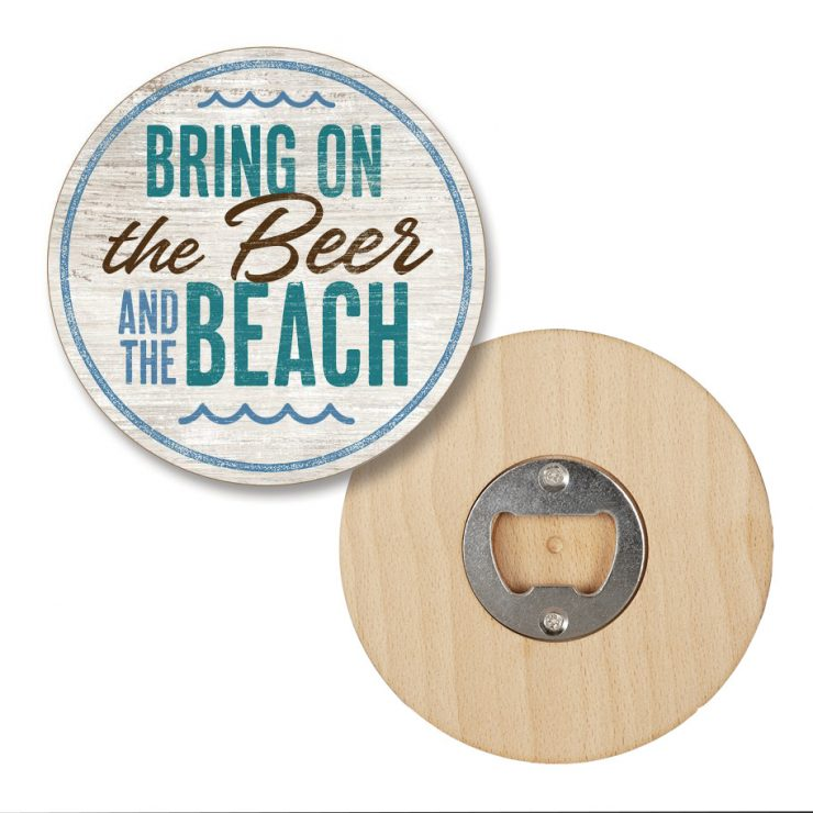 A photo of the Beer & Beach Pop-A-Top Coaster product