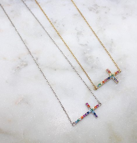 A photo of the Colorful Cross Necklaces product