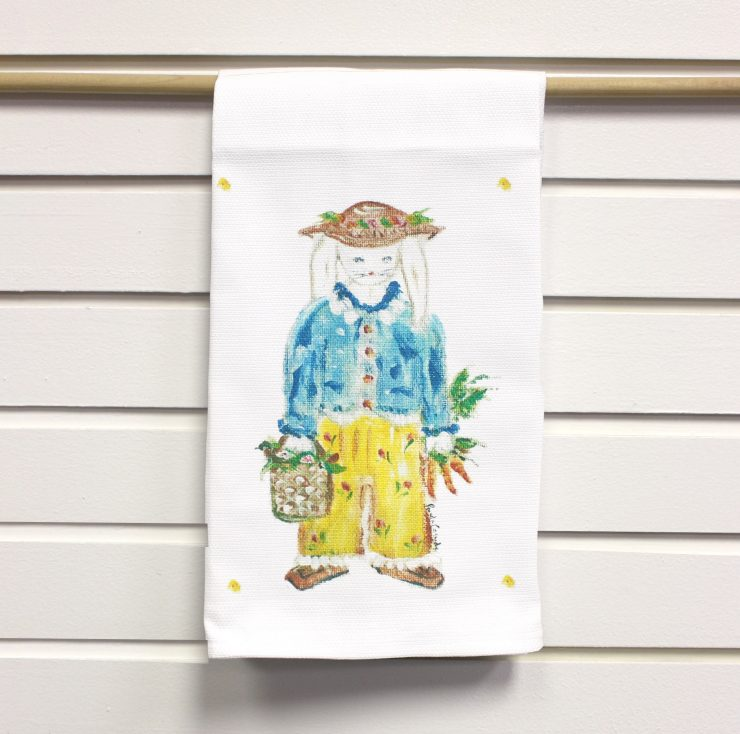 A photo of the Bunny Rabbit Kitchen Towel product