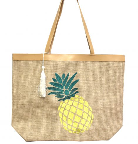 A photo of the Large Pineapple Embroidered Tote product