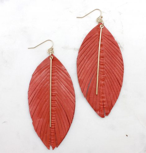 A photo of the Free Spirit Feather Earrings product