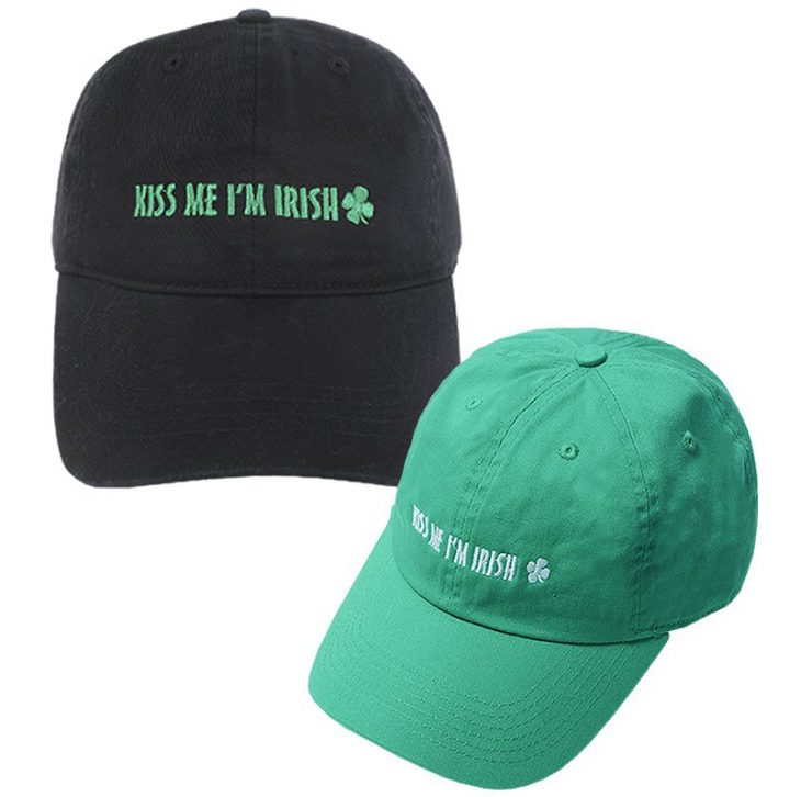A photo of the Kiss Me I'm Irish Baseball Cap product