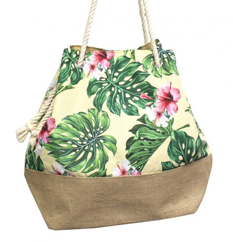 A photo of the Yellow Tropical Flowers Satchel product