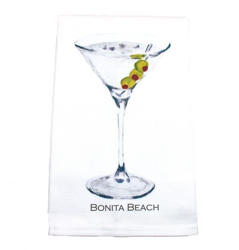 A photo of the Bonita Beach Martini Towel product