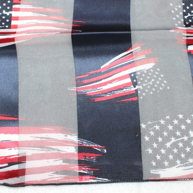 A photo of the Navy American Flag Scarf product
