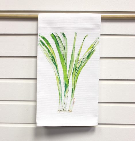 A photo of the Scallions Kitchen Towel product