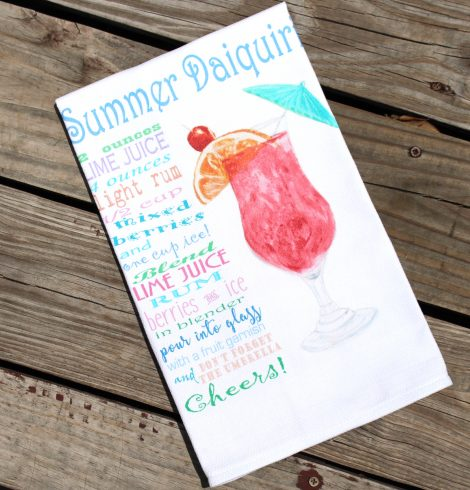 A photo of the Summer Daiquiri Recipe Kitchen Towel product