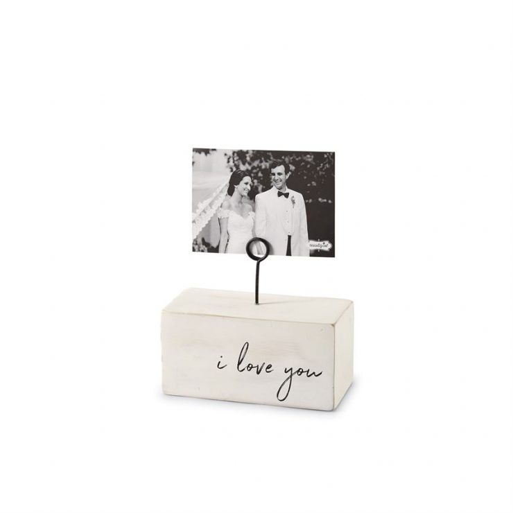A photo of the I Love You Wood Block Picture Frame product