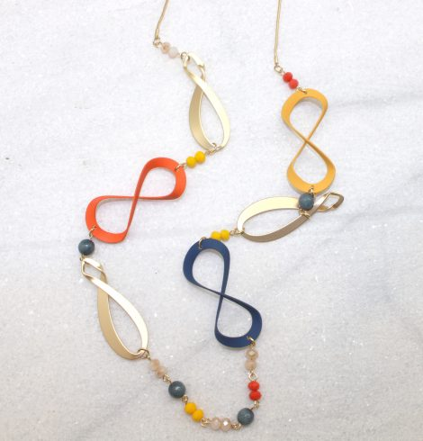 A photo of the Infinity Pieces Necklace product