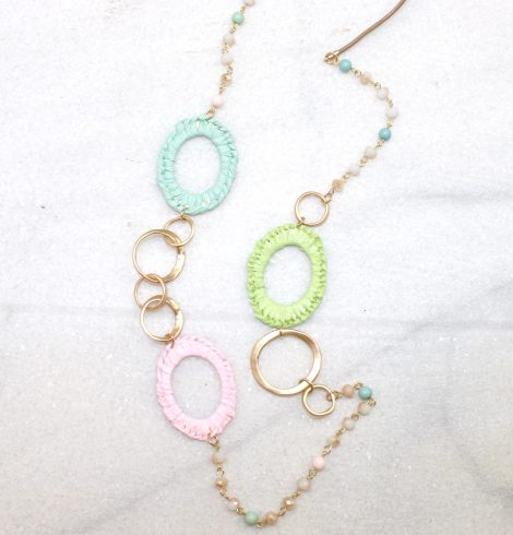 A photo of the Pastel Pieces Necklace product