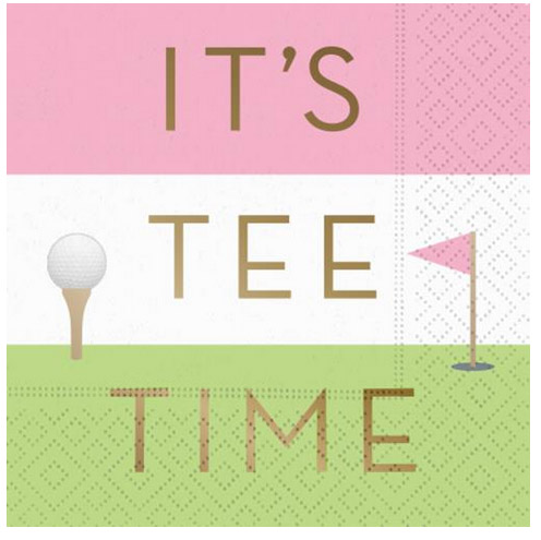 A photo of the Its Tee Time Napkins product