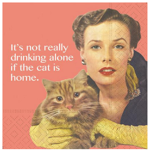 A photo of the The Cat Is Home Napkins product