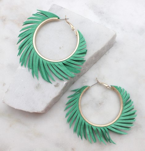 A photo of the Tropical Hoop Earrings product