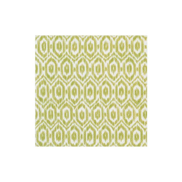 A photo of the Amala Ikat Green Napkins product