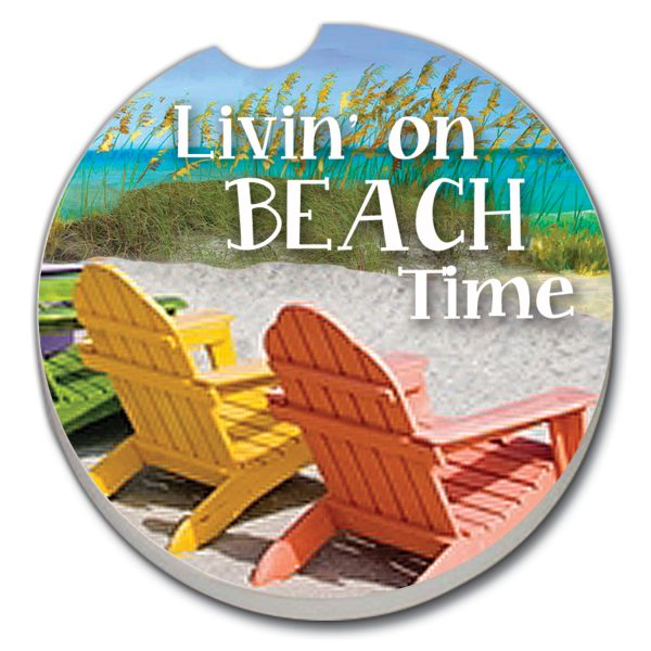 A photo of the Beach Time Car Coaster product
