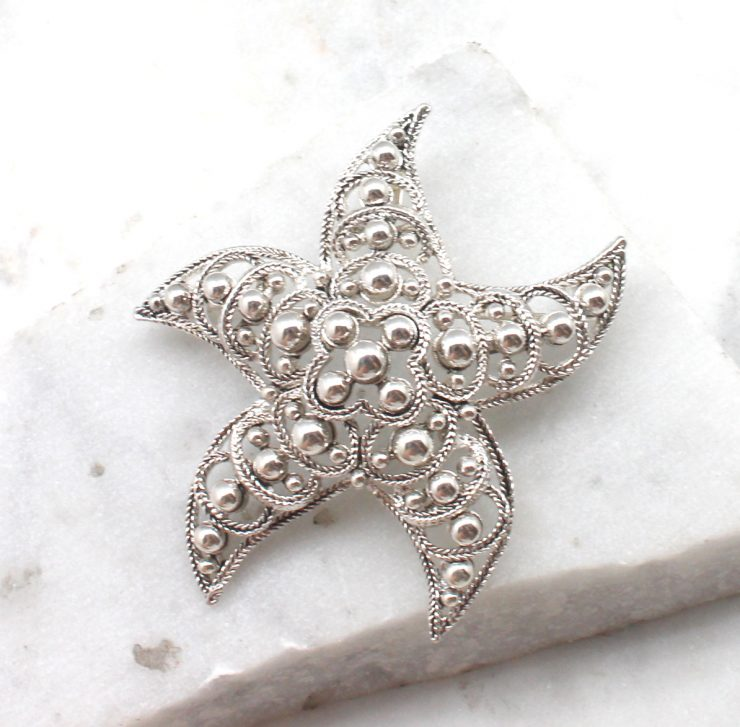 A photo of the Beaded Starfish Pin and Pendant product