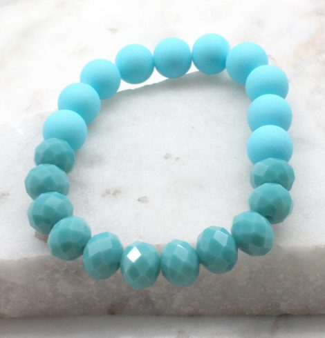 A photo of the Beaded and Stone Stretch Bracelet product