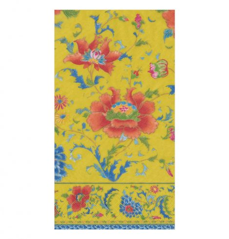 A photo of the Chinese Ceramic Guest Towels In Imperial Yellow product