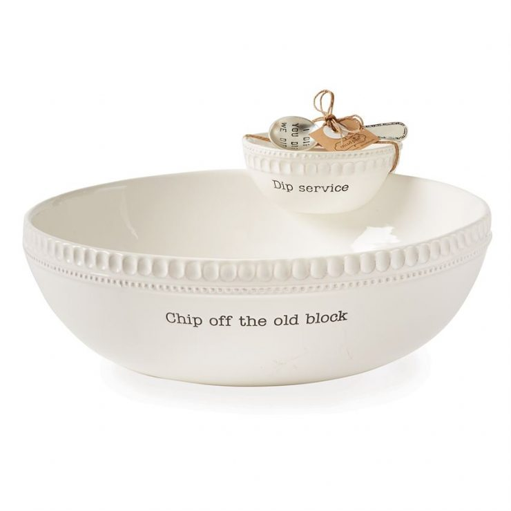 A photo of the Chip Off The Old Block Stacked Chip & Dip Set product