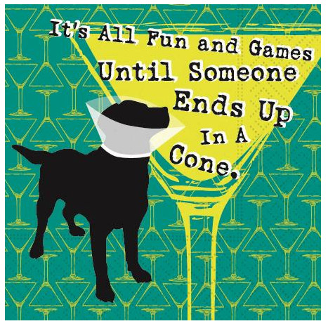 A photo of the All Fun And Games Napkins product