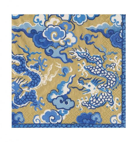 A photo of the Imperial Silk Napkins In Gold product