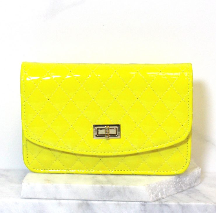 A photo of the Neon Quilted Cross Body Bag product