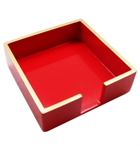 A photo of the Red Cocktail Napkin Holder product