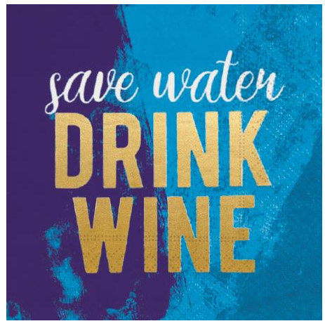 A photo of the Save Water Drink Wine Napkins product