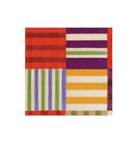 A photo of the Striped Patchwork Napkins product