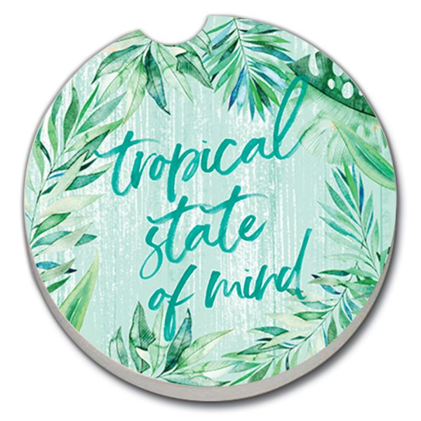 A photo of the Tropical State of Mind Car Coaster product
