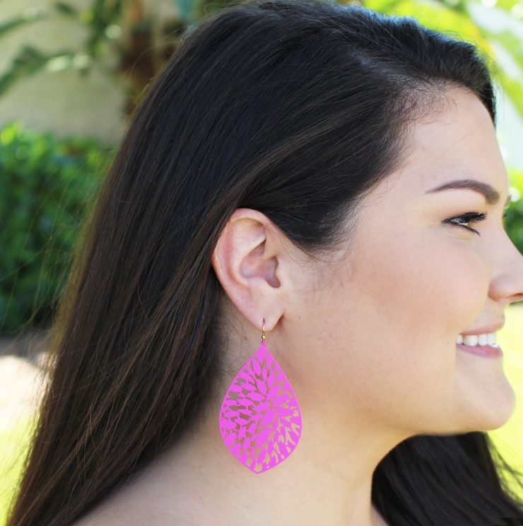 A photo of the Vibrant Cutout Earrings product