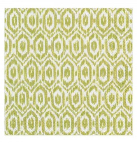 A photo of the Amala Ikat Cocktail Napkins In Green product
