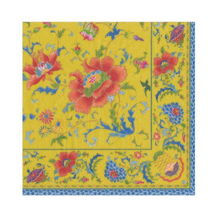 A photo of the Chinese Ceramic Luncheon Napkins In Imperial Yellow product
